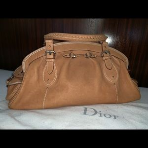 Christian Dior Tan Leather Satchel